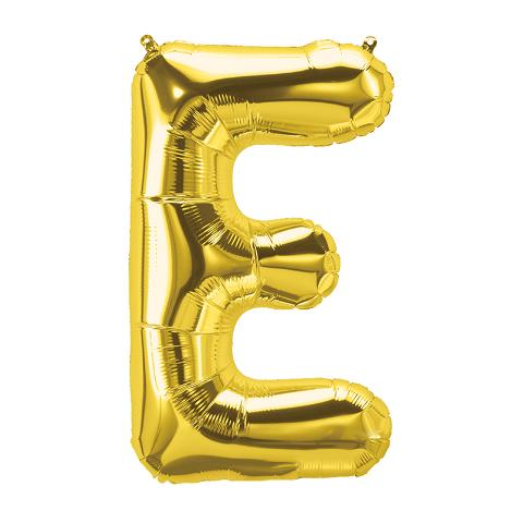 16IN FOIL BALLOON GOLD LETTER E