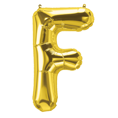 16IN FOIL BALLOON GOLD LETTER F