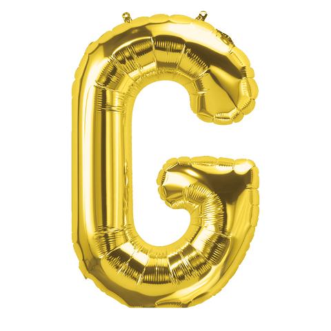 16IN FOIL BALLOON GOLD LETTER G