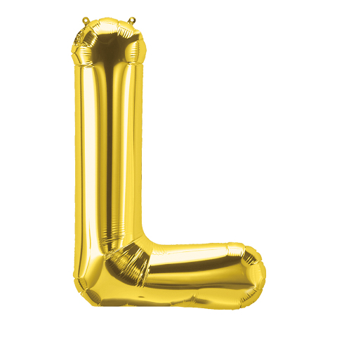 16IN FOIL BALLOON GOLD LETTER L