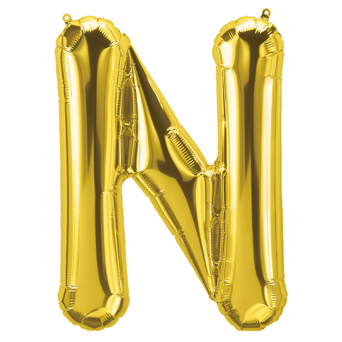 16IN FOIL BALLOON GOLD LETTER N