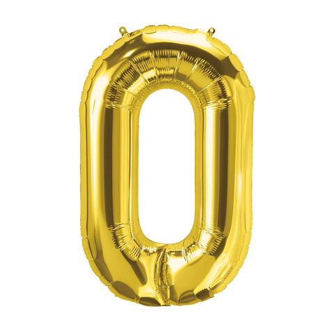 16IN FOIL BALLOON GOLD LETTER O