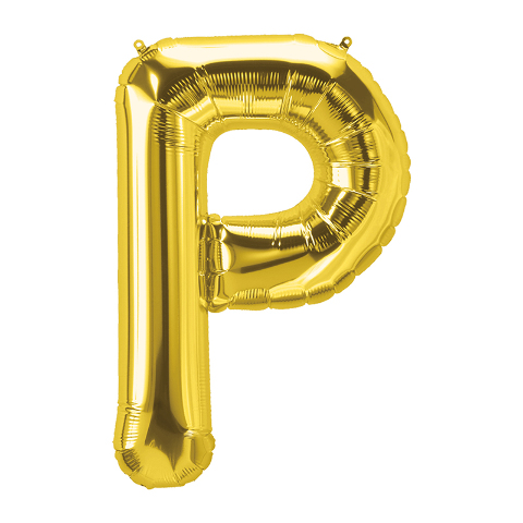 16IN FOIL BALLOON GOLD LETTER P