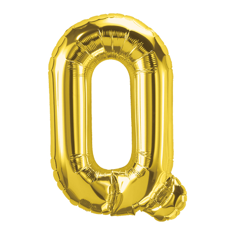 16IN FOIL BALLOON GOLD LETTER Q
