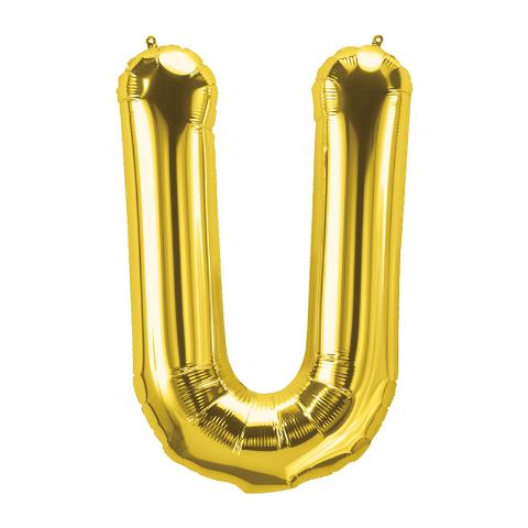 16IN FOIL BALLOON GOLD LETTER U