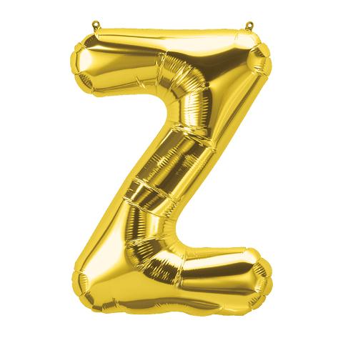 16IN FOIL BALLOON GOLD LETTER Z