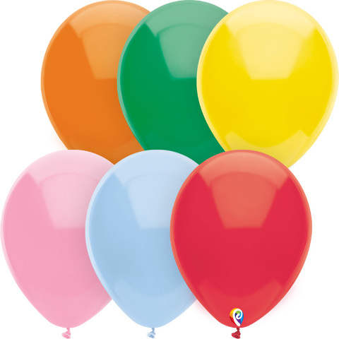 5IN BALLOONS ASSORTED SOLIDS 288 CT