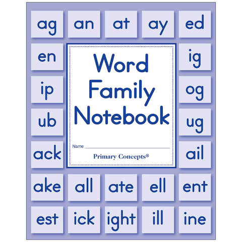 WORD FAMILY NOTEBOOK SET OF 5