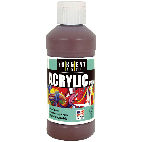 ACRYLIC PAINT 8 OZ BROWN