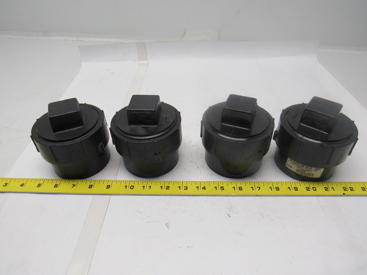 "Nibco 5803-2 - 3"" ABS-1 dwv Cleanout w/Plug Lot of 4"