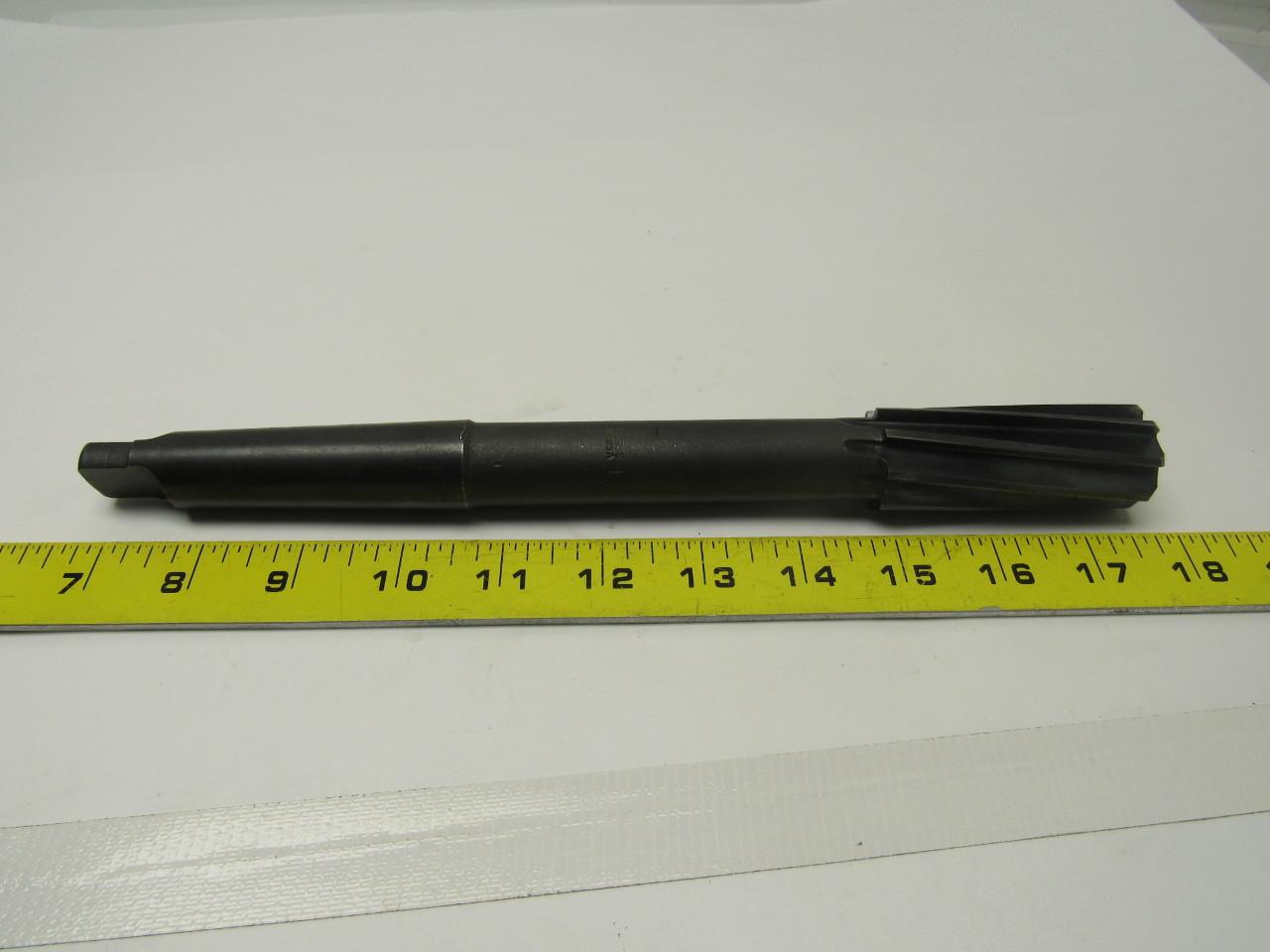 Morse #3 taper  1-1/8 spiral right flute reamer 11 OAL