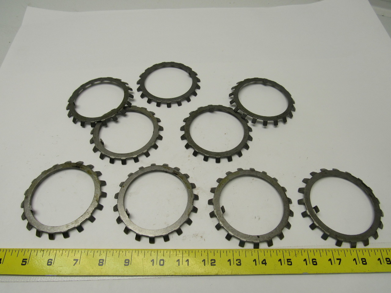 "Whittet Higgins W-14 - Bearing retaining nut lock washer 2.800"" I.D. Lot of 9"