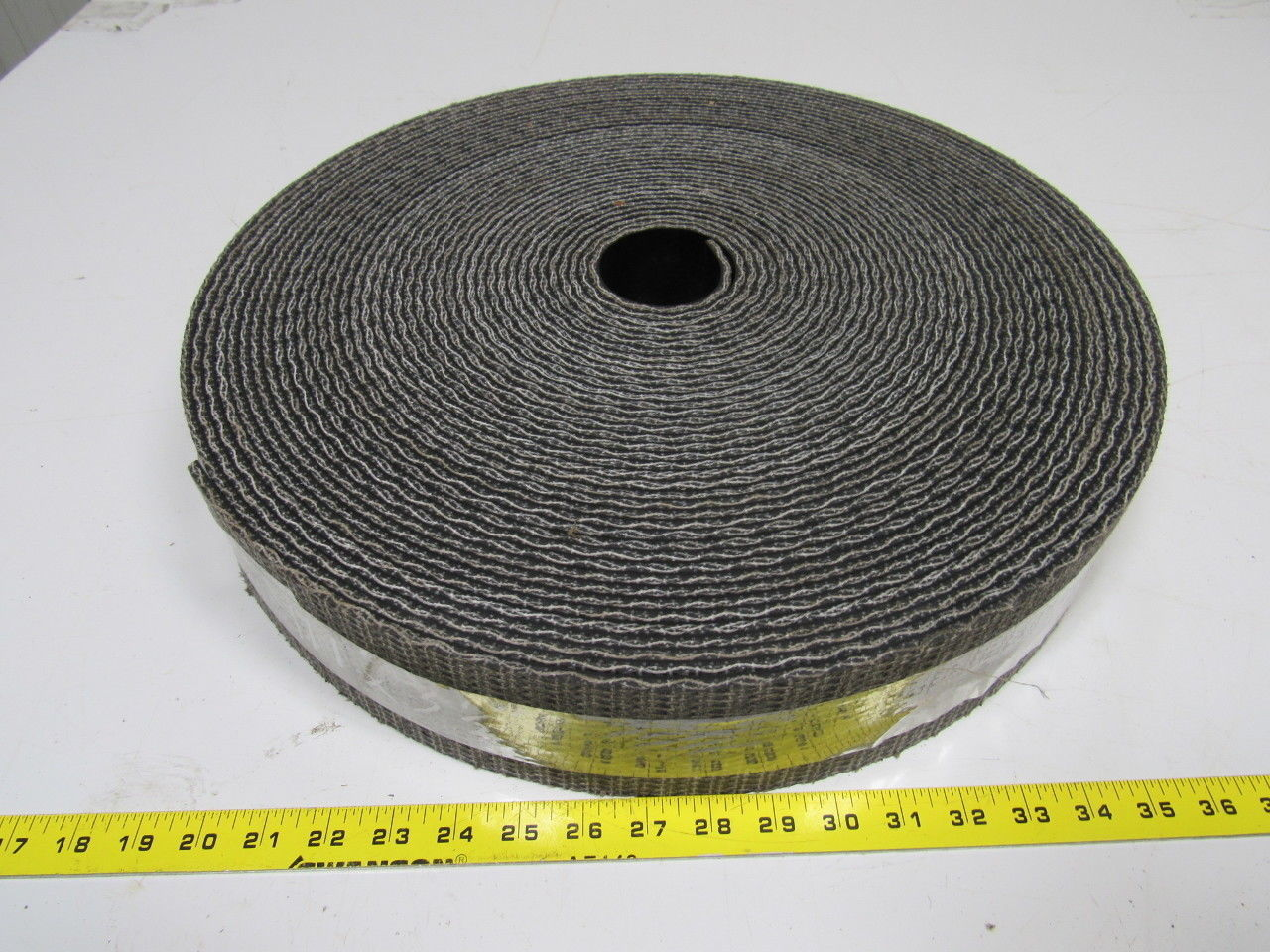 "1 ply black interwoven conveyor belt 111ft x 3.5"" x 0.205"" thick"