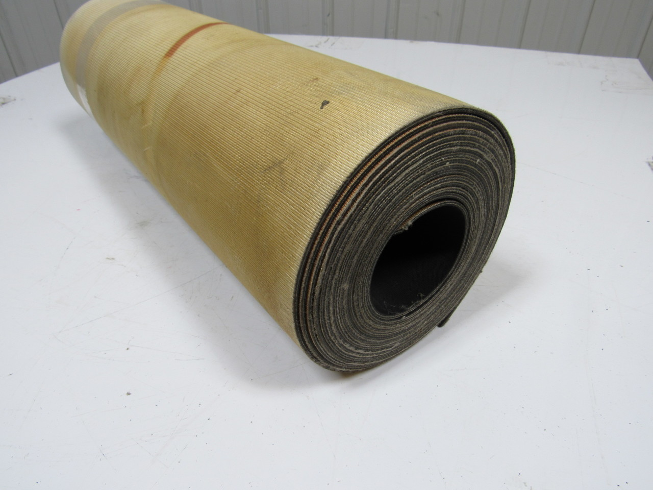 "2-Ply Black Rubber Impression Top  Conveyor Belt 23' x 24"" 0.130"" thick"