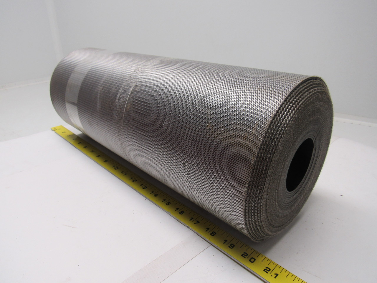 "2-Ply Smooth Top PVC Rubber Black Conveyor Belt  23' x 17.5"" 0.080"" Thick"