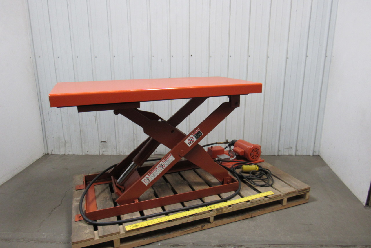 "Olympic OMS-2448-2 Hydraulic Lift Table 2000 Cap 28""x48"" Table 110V W/Pendant"