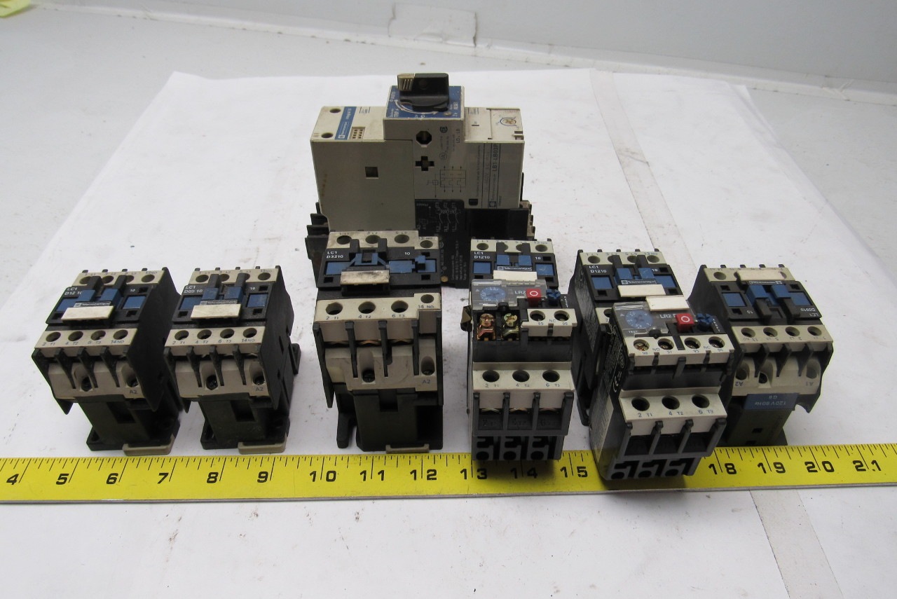 Telemecanique Contactors & 1 Self Protected Motor Starter Lot of 7
