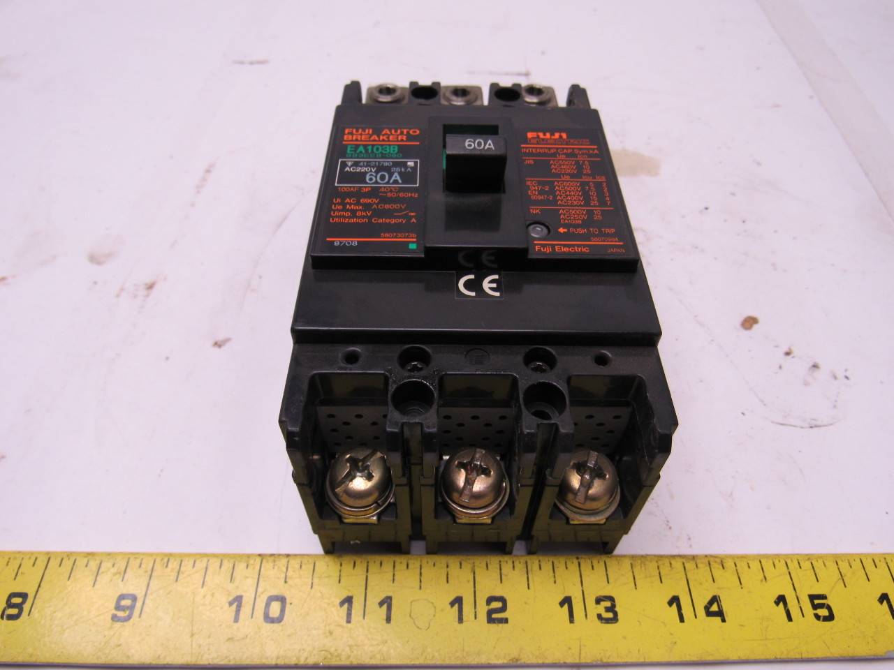 Fuji Electric EA103B BB3EEB-060 60A Circuit Breaker 3 Pole