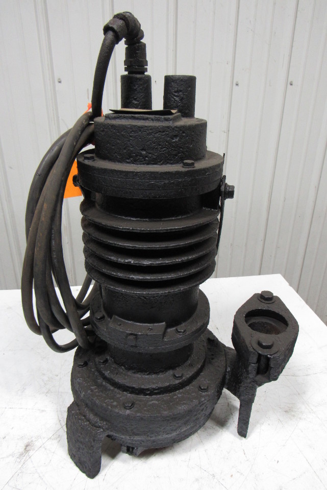 "Weil Pump 1602 Submersible 5HP 2-1/2"" Flanged Discharge Sump Waste Pump"