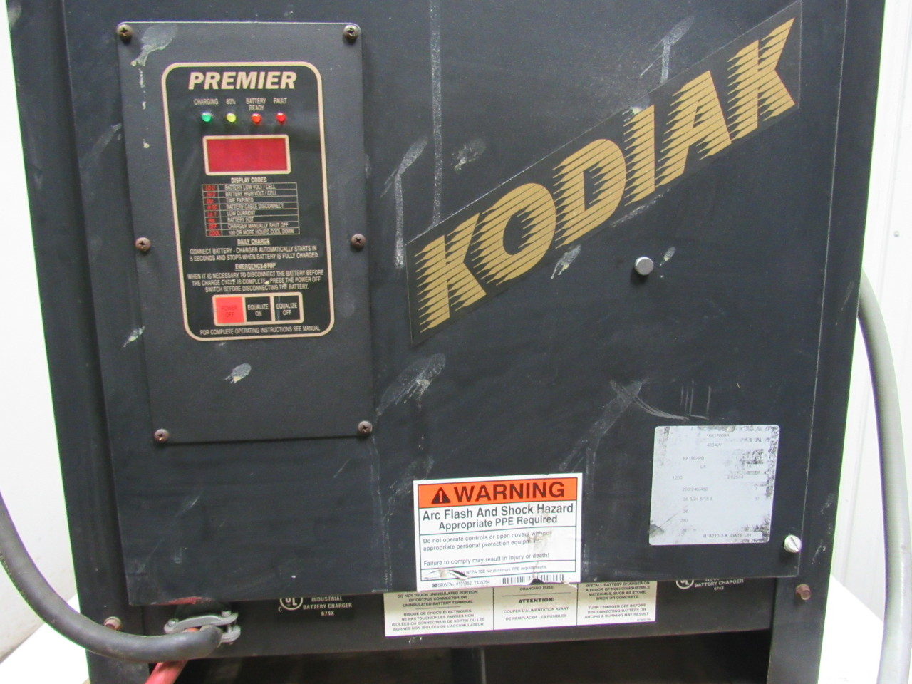 bulldog batteries bulldog battery 18k1200b3 kodiak battery forklift charger 6079