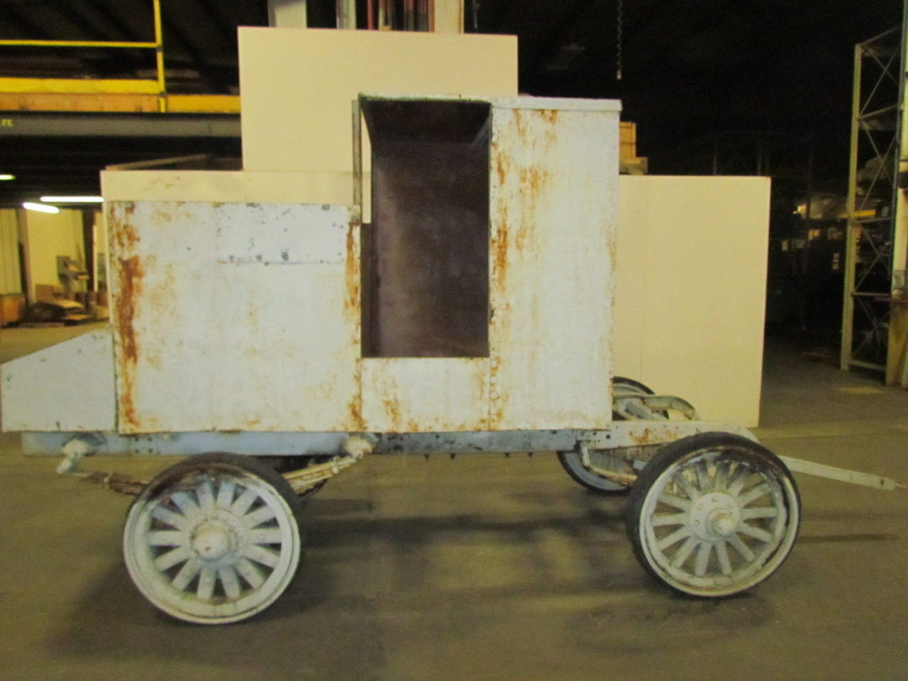 Vintage Antique Wooden Wheel Wagon Carriage On Early 1900