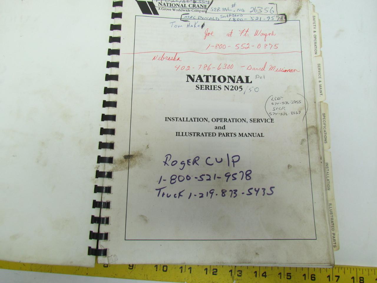 National crane owners Manual 1800