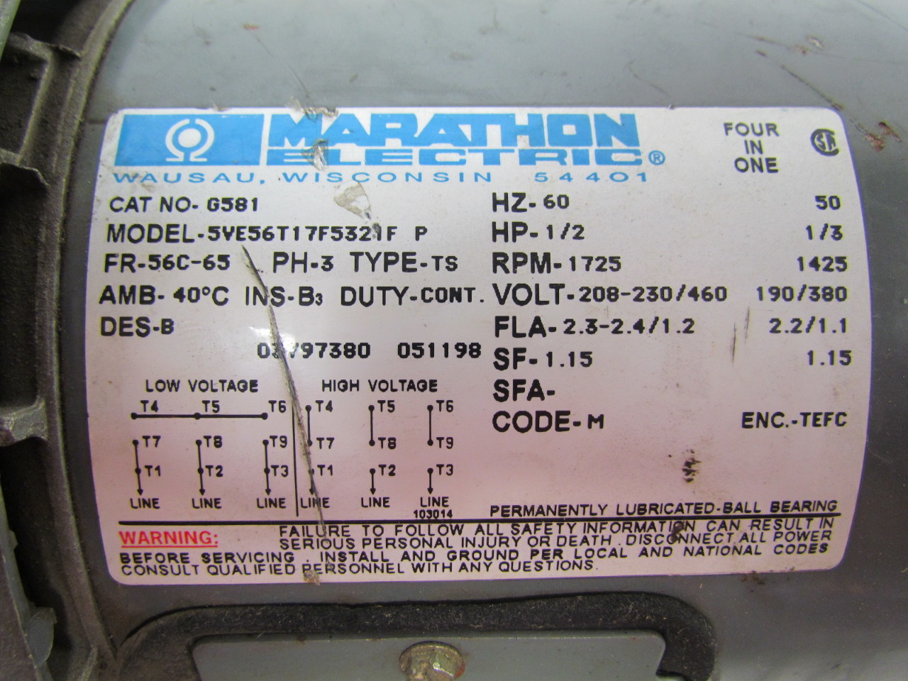 Electric Motor Marathon Impower Pump Wiring Diagram Wire Photos