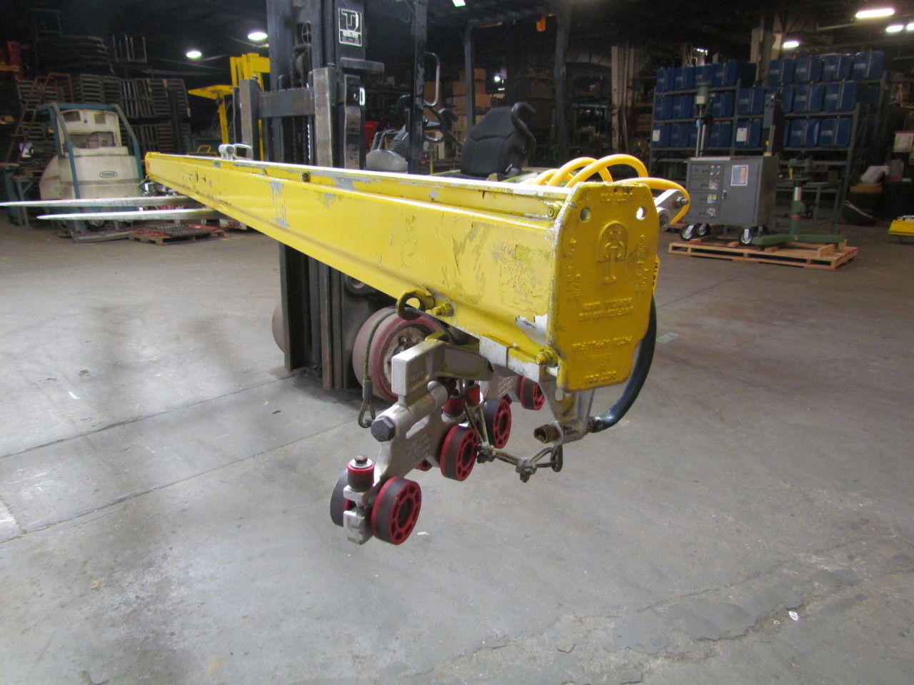 Royal ARC / Unified Overhead Crane Rail 18' Section w/ 1000# Capacity Trolleys