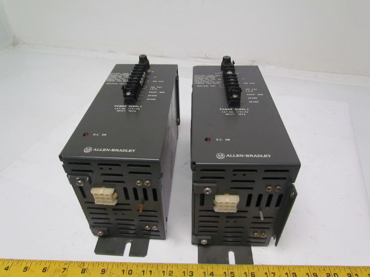Allen-Bradley 1771-P2 Auxilary Power Supply 120/220VAC 1/0.5A Lot of 2
