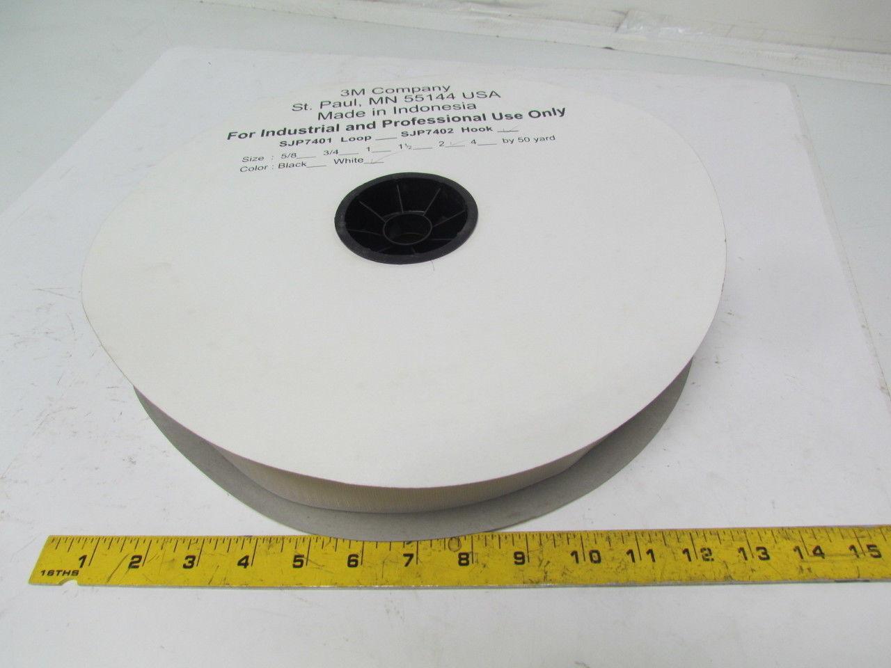 "3M SJP7402 Hook 2""x50 Yards hook side type fastener white sew on"