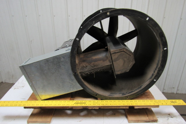 "Dayton 4C661B  18"" Tubeaxial Exhaust Fan W/3/4hp 3ph  Electric Motor Belt Driven"