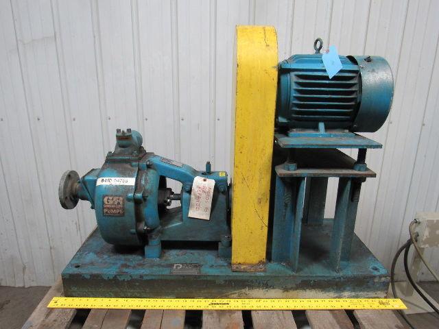 92B52-B 90 Series Self Priming Centrifugal Skid Pump 5hp 460V Parts or  Repair