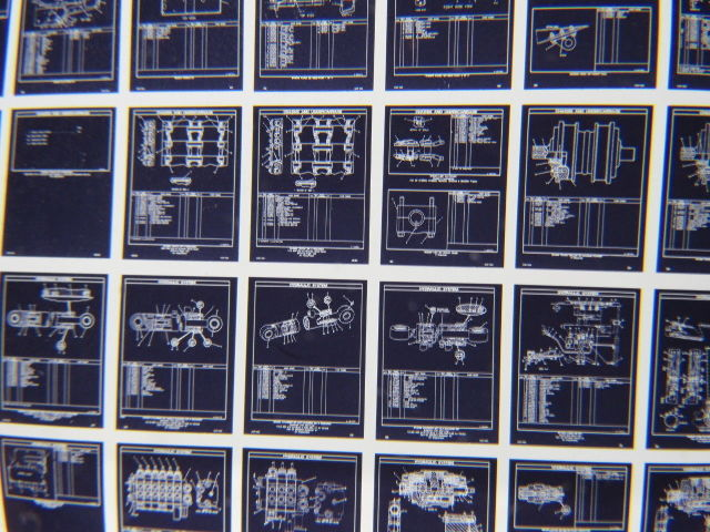 Cat Caterpillar D5H Track Skidder Vintage Microfiche Parts Catalog 3 Cards