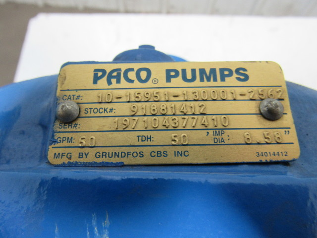 PACO Pumps/Grundfos 10-15951-130001-2562 End Suction
