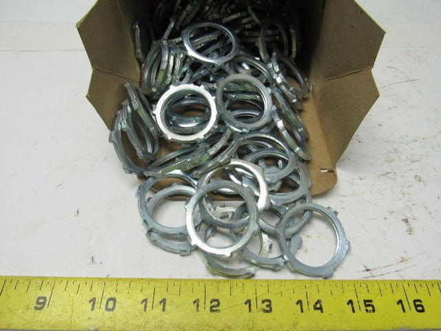 Halex 61910B Rigid Steel Conduit LOCKNUT 100//BOX 1 Silver