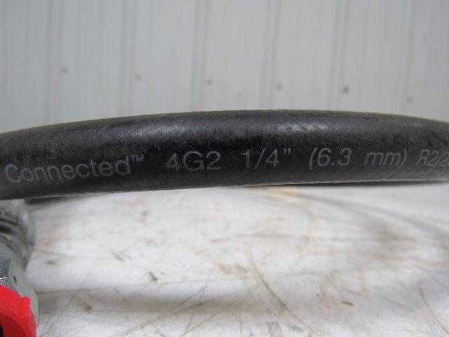 """Gates Connected 4G2 R2//2SN EN853 1//4/"""" Hydraulic Hose 43/"""" W//Female Swivel Fitting"""