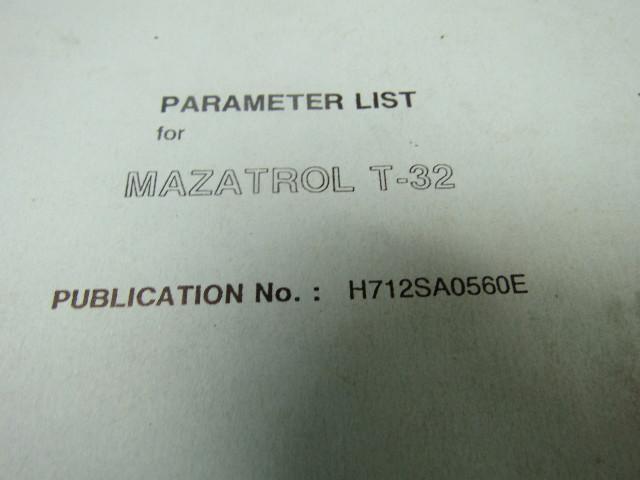 Mazak T32 Parameter List