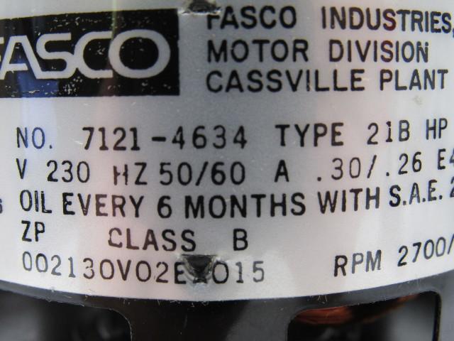 Fasco 7121-4634 Type 21B 230 V Condensate Pump 1/77 HP KoldWave