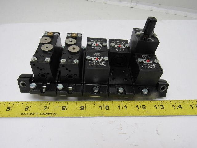 Rexroth Type 551 110 Mecman Pneumatic Logic Valve Timer