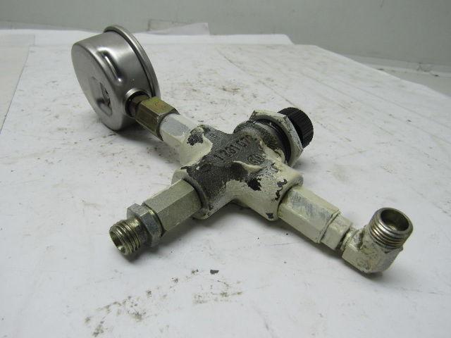 Hydac 1231072 GGG40 Hydraulic Shut off Valve W//Gauge