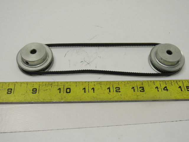 """54LT Timing Pulley 54 Tooth 1//4/""""Bore /& Timing Belt Lot of 2 Pulleys 1 Belt"""