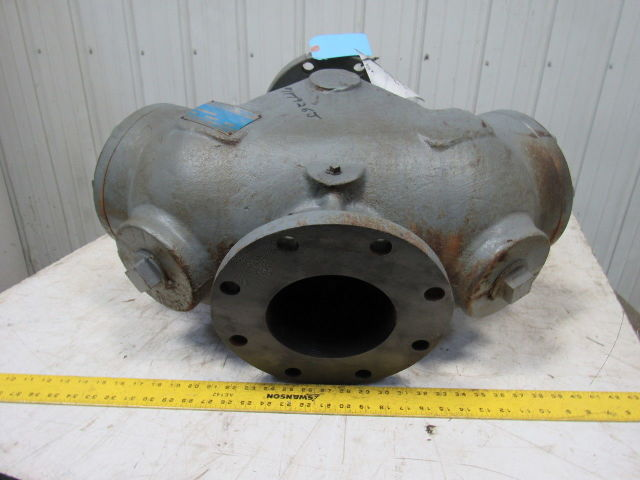 """Hellan Type F Size 6 6"""" Cast Iron Flange Manual Inline Fluid Rotary Strainer"""