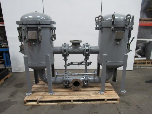Steel Duplex Vessel 6 Pot Strainer Filter Bag/Basket Assy. 150PSI Max