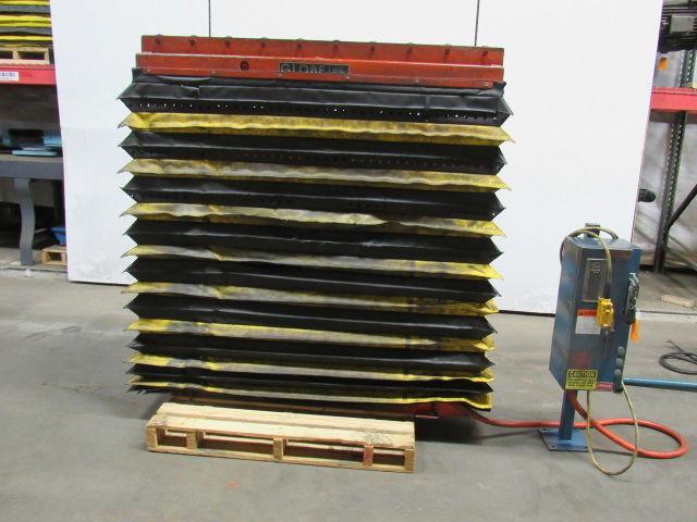 Details about Globe AA2-48-SP 1000LB Scissor Lift Table Roller Top 24