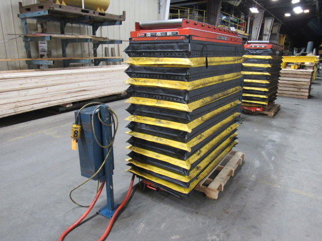 Details about Globe AA2-48-SP 1000LB Scissor Lift Table Roller Top 24