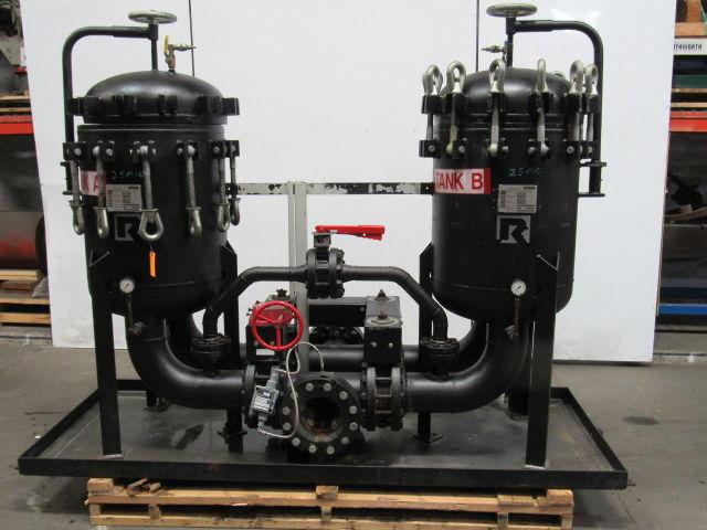 Rosedale D24306F13000-0 Steel Duplex Vessel 6 Pot Filter Strainer Basket 300PSI