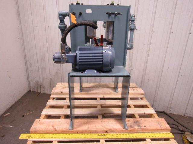 Nippon 2MY1500-216HWMVB Trochoid Hydraulic Pump W/1500W Motor & Filters