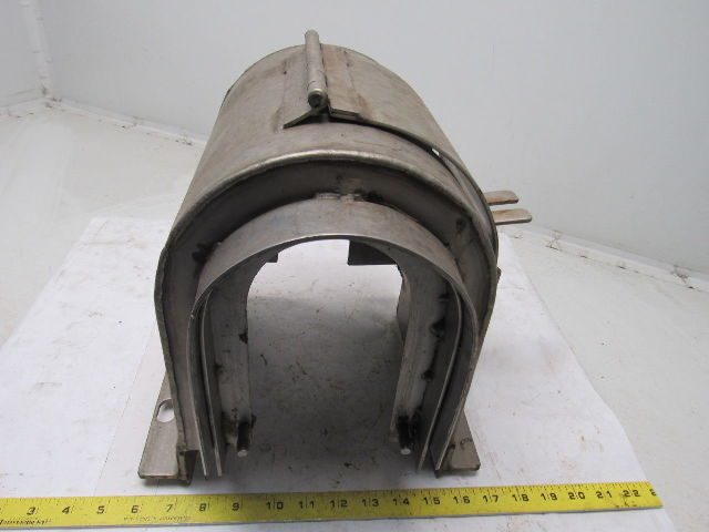 Stainless Steel Motor Shaft Coupling Guard Safety Cage See