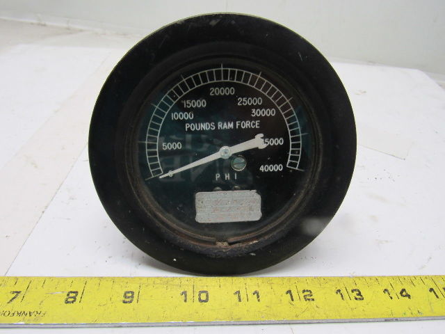 Details about PHI Hydraulic Pounds Ram Force Gauge 3-1/2