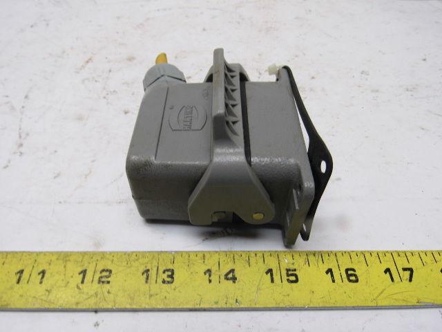 Harting Han E6m 16a 400v 6 Pin Amp Socket Connector Cam Lock